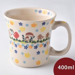 【波蘭陶】春雨新露系列 寬口馬克杯 400ml 波蘭手工製