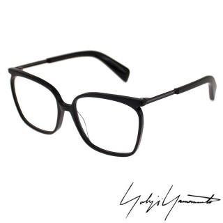 【Y-3 山本耀司】Yohji Yamamoto方型時尚金屬混搭造型光學眼鏡(黑-YY1028-019)