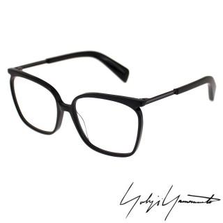 【Y-3 山本耀司】Yohji Yamamoto方型時尚金屬混搭造型光學眼鏡(霧黑-YY1028-002)