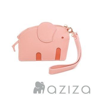 【aziza】小象造型鑰匙零錢包(柔情粉)