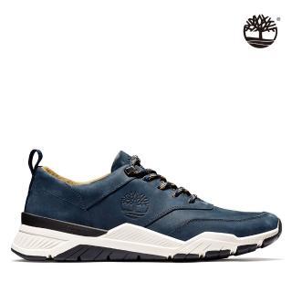 【Timberland】男款海峽藍磨砂革休閒健走鞋(A2K7V019)