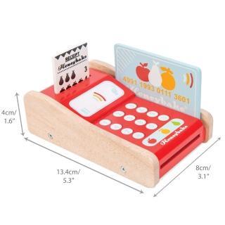 【LE TOY VAN】角色扮演系列-信用卡刷卡機木質玩具組(TV320)