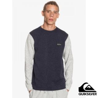 【Quiksilver】男款 男裝 上衣 長袖T恤 KELLER BLOCK CREW(海軍藍)