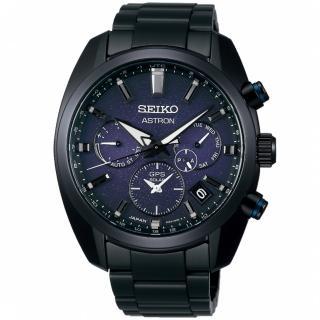 【SEIKO 精工】Astron GPS衛星定位太陽能萬年曆飛航手錶-黑42.7mm(SSH077J1)