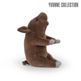 【Yvonne Collection】豬豬造型小抱枕(深咖啡)