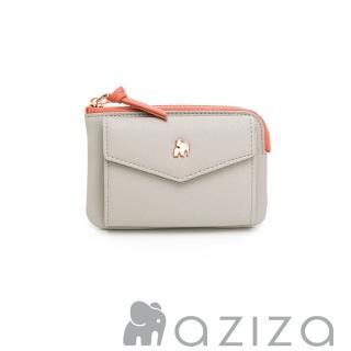 【aziza】CLARA鑰匙零錢包(小象灰)