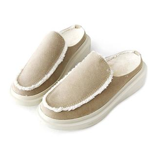 【HIKOREA】正韓製/版型偏小。溫暖立體內鋪毛質感滿分情侶款穆勒鞋(71-3191黑/現貨)