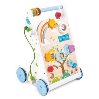 【LE TOY VAN】啟蒙玩具系列-小森林嬰幼兒啟蒙木質學步車(PL112)