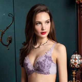 【Wacoal 華歌爾】深V性感 C-E 罩杯蕾絲內衣 伊珊露絲-EB4675VZ(紫)