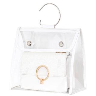【WEEKEIGHT】超高質感可連結吊掛精品包防塵防潮透明收納袋(XL)