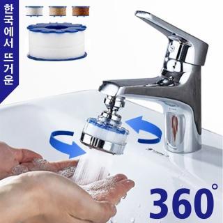 【Reddot 紅點生活】360度省水增壓水龍頭過濾器(隨時了解水質狀態 即時更換濾芯)