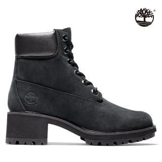 【Timberland】女款黑色磨砂革防水6吋低跟靴(A25C4001)/