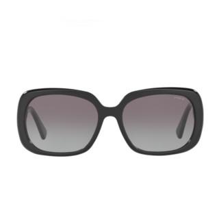 【COACH】潮流方框黑色鏡腳漸層透明黑框灰色鏡片(8178F-500211)