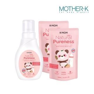 【MOTHER-K】有機植萃蔬果奶瓶清洗慕斯 1瓶+2袋(500ML/瓶)