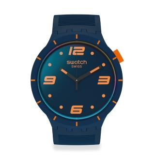 【SWATCH】BIG BOLD系列手錶 FUTURISTIC BLUE(47mm)