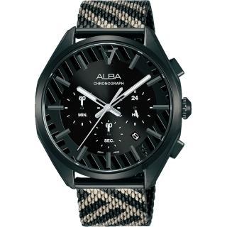 【ALBA】限量東京街頭計時手錶-42mm(AT3H07X1/VD53-X374SD)