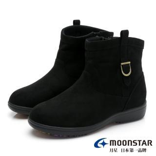 【MOONSTAR 月星】發熱3度C系列-防水暖靴-(黑色)