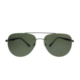 【RayBan 雷朋】超細框雙樑綠色鏡片(8059-0049A)