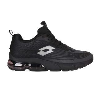 【LOTTO】男休閒運動鞋-反光 慢跑 路跑 氣墊 黑銀(LT1AMR3100)