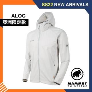 【Mammut 長毛象】GRANITE SO Hooded Jacket AF 防風防潑水軟殼外套 公路灰 #1011-00321