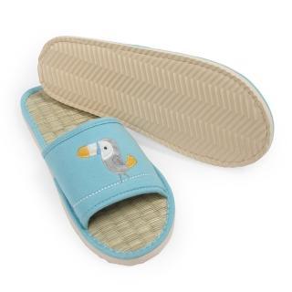 【Yvonne Collection】大嘴鳥藺草室內拖鞋(晴空藍)