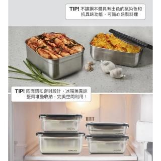 【LocknLock樂扣樂扣】不鏽鋼輕量保鮮盒多件組(巧攜五件組/大容量三件組)