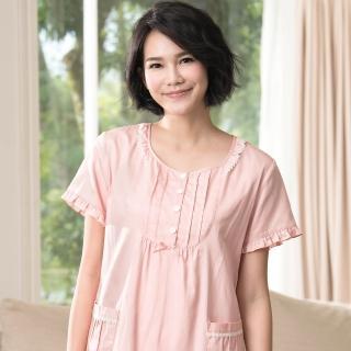 【Wacoal 華歌爾】睡衣 M-L圓領短袖家居裙 LWZ32471PP(粉)