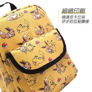 【POKEMON 精靈寶可夢】兒童背包 皮卡丘背包 卡通書包(寶可夢後背包 神奇寶貝肩背包 兒童雙肩背包)