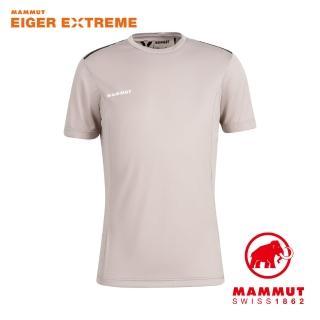 【Mammut 長毛象】Moench Light T-Shirt Men 輕量極限艾格透氣短袖排汗衣 男款 峭壁灰 #1017-02960