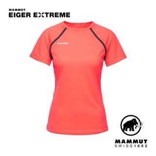 【Mammut 長毛象】Moench Light T-Shirt Women 輕量極限艾格透氣短袖排汗衣 女款 小檗紅 #1017-02970