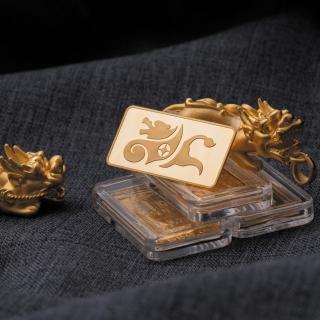 【童樂繪金飾】1台錢幸運貔貅luckystar金條 鎮宅、避邪、化煞、轉運、增財(金重3.75公克)