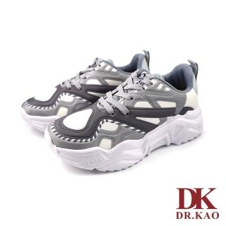 【DK 高博士】流線撞色氣墊鞋73-0150-69灰色