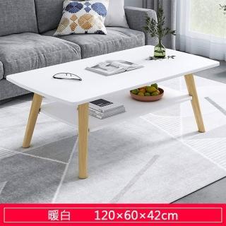 【HappyLife】雙層客廳大茶几 120cm 木紋 大理石紋 Y10092(咖啡桌 客廳桌 大桌子 大理石桌 木紋桌)