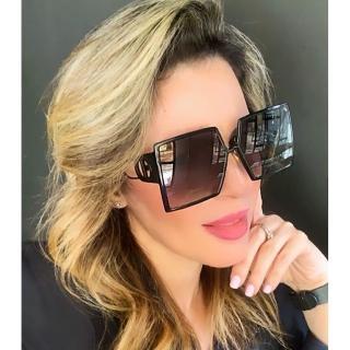 【Dior 迪奧】方面 太陽眼鏡(黑色)