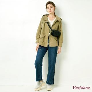 【KeyWear 奇威名品】人氣款時尚短版風衣(共3色)