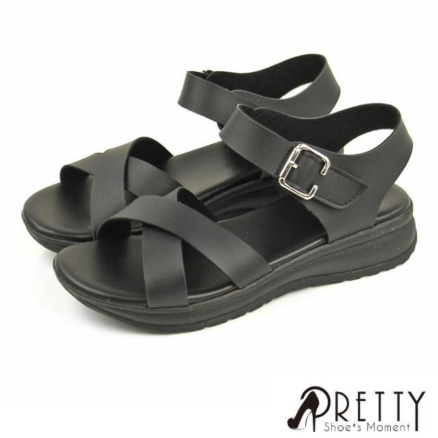 【Pretty】台灣製加厚氣墊楔型厚底拖鞋/涼鞋(共8款)