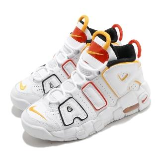 【NIKE 耐吉】休閒鞋 Air More Uptempo 童鞋 經典款 大AIR 復刻 氣墊 避震 中童 白 黃(DD9286-100)
