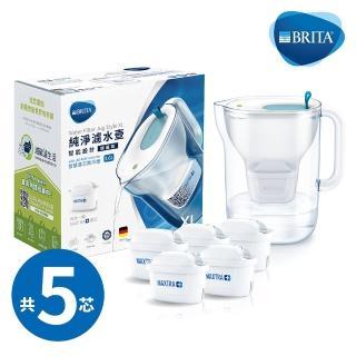 【BRITA】Style XL純淨濾水壺+4入全效型濾芯(共5芯)