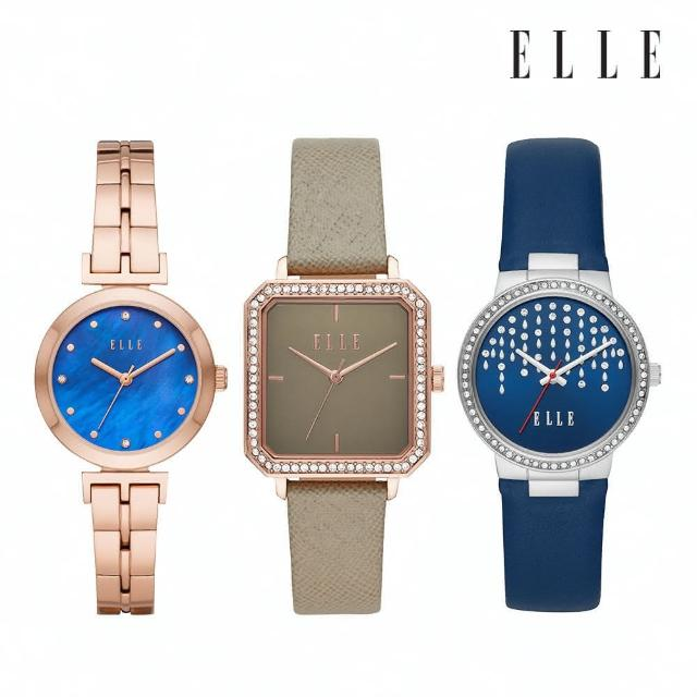 【ELLE】精選流行皮革/鍊帶女錶(多款可選)/母親節禮物/