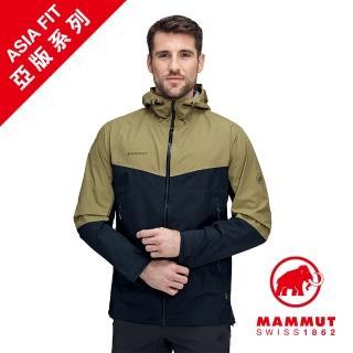 【Mammut 長毛象】Convey Tour HS Hooded Jacket GTX AF 防水連帽外套 橄欖綠/海洋藍 男款 #1010-28450