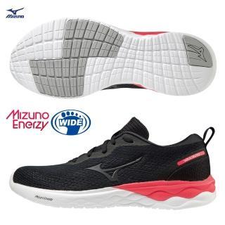 【MIZUNO 美津濃】WAVE REVOLT 寬楦一般型女款路跑鞋 ENERZY中底材質 J1GD208509(慢跑鞋)