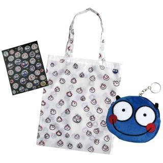 小怪物幫你提:隨身購物袋+零錢包