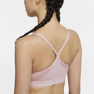【NIKE 耐吉】運動內衣 女款 中度支撐 訓練 慢跑 健身 AS W NK DF INDY U-NECK BRA 粉 CZ4463-630