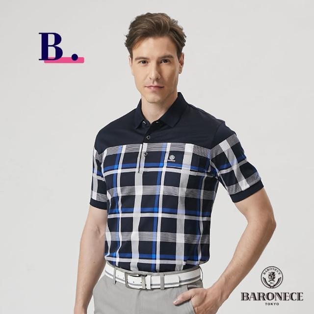 【BARONECE 百諾禮士】男裝 棉感舒適機能短袖polo衫(多款任選)