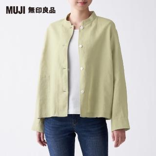 【MUJI 無印良品】女法國亞麻水洗襯衫外套(共3色)