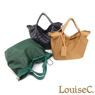 【LouiseC.】Tree House 真牛皮+輕盈尼龍中型手提斜背包-2色(YS98233)