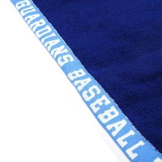 【富邦悍將】騎士隊徽緹花浴巾(藍/白_OneSize)