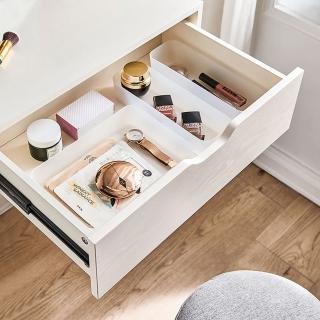 【hoi! 好好生活】林氏木業北歐簡約多功能收納化妝桌 JF4C-A 白色