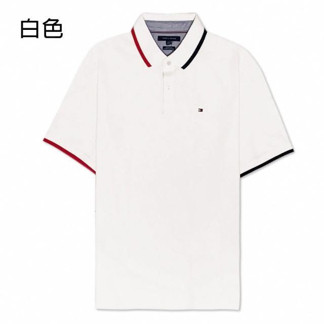 【Tommy Hilfiger】撞色領口經典版型款POLO衫(多色可選)