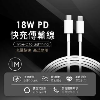 【iPhone必備20W快充組】★20W輕巧快充頭+Type-C to Lightning快充線(for iPhone12/12 Pro/11/11 Pro)